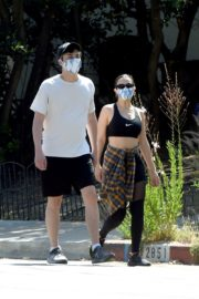 Charli XCX and Huck Kwong Wearing Masks Out in Los Angeles 2020/06/04 2