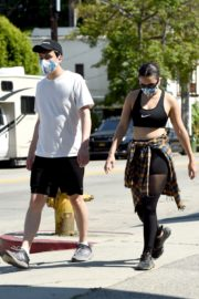 Charli XCX and Huck Kwong Wearing Masks Out in Los Angeles 2020/06/04 5
