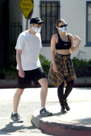 Charli XCX and Huck Kwong Wearing Masks Out in Los Angeles 2020/06/04 6