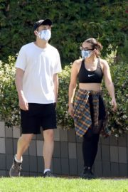 Charli XCX and Huck Kwong Wearing Masks Out in Los Angeles 2020/06/04 7