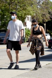 Charli XCX and Huck Kwong Wearing Masks Out in Los Angeles 2020/06/04 9