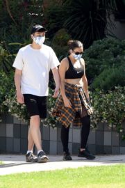 Charli XCX and Huck Kwong Wearing Masks Out in Los Angeles 2020/06/04 10