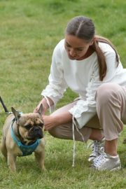 Chloe Ross Out with her Dog in Chigwell 2020/06/06 3