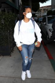 Christina Milian Wearing a Mask at Madeo Restaurant in Beverly Hills 2020/06/17 4