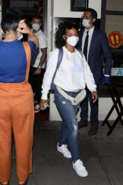 Christina Milian Wearing a Mask at Madeo Restaurant in Beverly Hills 2020/06/17 6