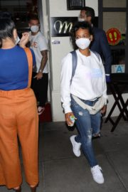 Christina Milian Wearing a Mask at Madeo Restaurant in Beverly Hills 2020/06/17 7
