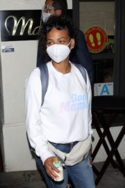 Christina Milian Wearing a Mask at Madeo Restaurant in Beverly Hills 2020/06/17 8