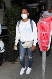 Christina Milian Wearing a Mask at Madeo Restaurant in Beverly Hills 2020/06/17 9