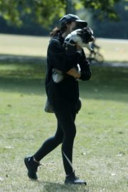 Christine Lampard Out with her Dog at a Park in London 06/09/2020 1
