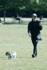 Christine Lampard Out with her Dog at a Park in London 06/09/2020 2