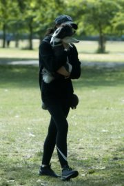 Christine Lampard Out with her Dog at a Park in London 06/09/2020 3