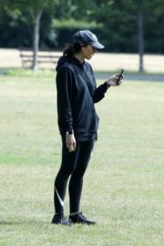 Christine Lampard Out with her Dog at a Park in London 06/09/2020 4