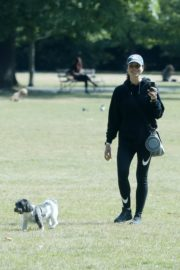 Christine Lampard Out with her Dog at a Park in London 06/09/2020 5