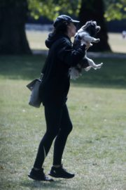 Christine Lampard Out with her Dog at a Park in London 06/09/2020 13