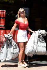 Christine McGuinness at a Post Office in Wilmslow 2020/06/01 11