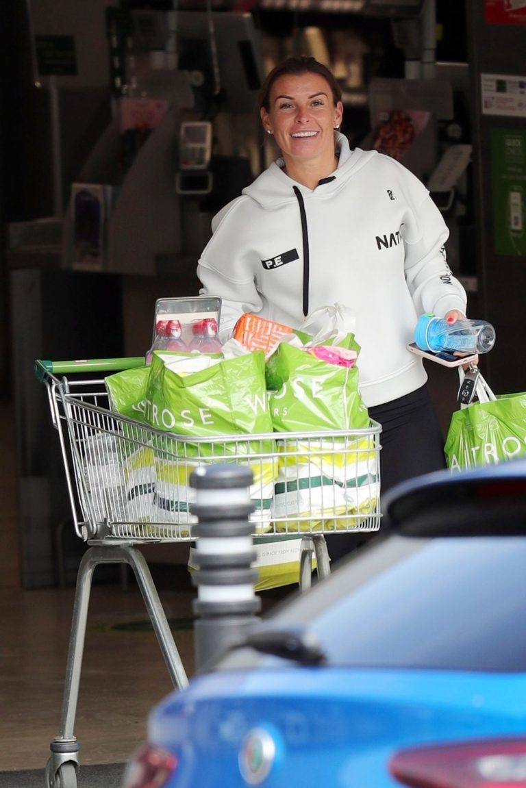 Coleen Rooney Shopping at Waitrose Supermarket in Cheshire 2020/06/09 2