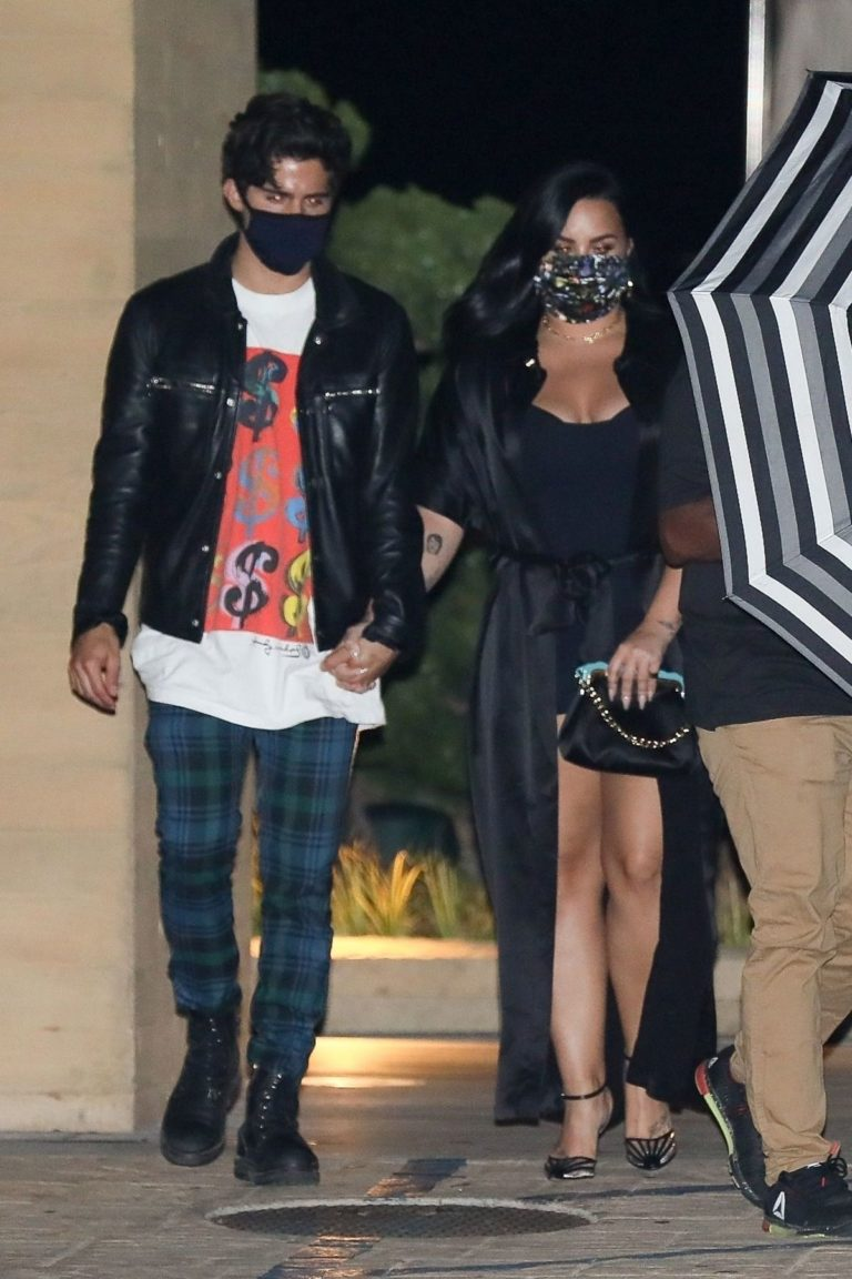 Demi Lovato and Max Henrich Leaves Nobu in Malibu 2020/06/19 2