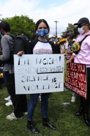Eiza Gonzalez at a Black Lives Matter Protest in Los Angeles 2020/06/06 3