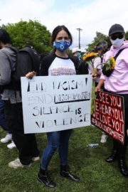 Eiza Gonzalez at a Black Lives Matter Protest in Los Angeles 2020/06/06 4
