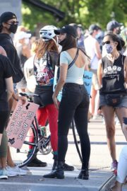 Eiza Gonzalez at a Protest in West Hollywood 2020/06/09 2