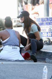 Eiza Gonzalez at a Protest in West Hollywood 2020/06/09 5