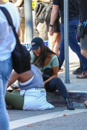 Eiza Gonzalez at a Protest in West Hollywood 2020/06/09 7