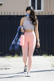 Eiza Gonzalez in Light Pink Tights Out in Los Angeles 2020/05/31 6