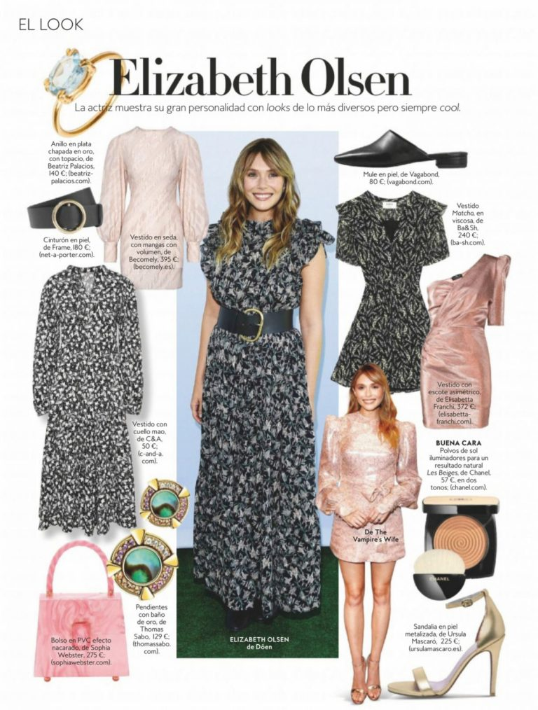 Elizabeth Olsen in Instyle Magazine, Spain July 2020 1