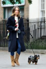 Emilia Clarke Out with Her Dog in London 2020/06/06 8