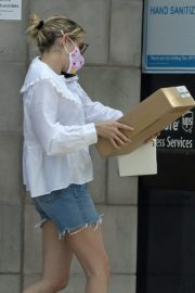 Emma Roberts in Denim Shorts Out in Los Angeles 2020/06/12 4