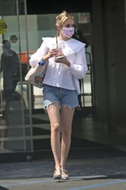 Emma Roberts in Denim Shorts Out in Los Angeles 2020/06/12 9