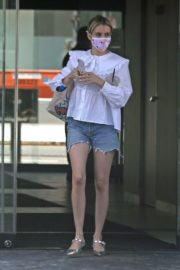 Emma Roberts in Denim Shorts Out in Los Angeles 2020/06/12 12