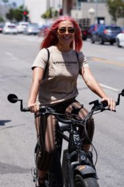 Emma Slater Riding a Bike Out in Studio City 2020/06/12 5