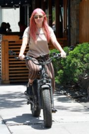 Emma Slater Riding a Bike Out in Studio City 2020/06/12 9