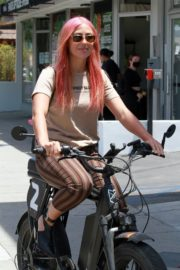 Emma Slater Riding a Bike Out in Studio City 2020/06/12 10