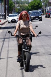 Emma Slater Riding a Bike Out in Studio City 2020/06/12 12