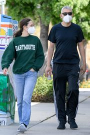 Emmy Rossum and Sam Esmail Out in Toluca Lake 2020/05/31 1