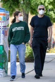 Emmy Rossum and Sam Esmail Out in Toluca Lake 2020/05/31 2
