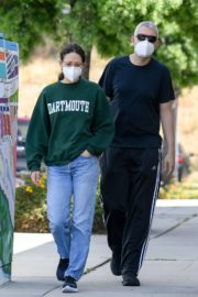 Emmy Rossum and Sam Esmail Out in Toluca Lake 2020/05/31 3