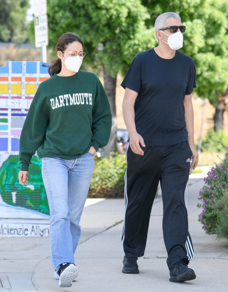 Emmy Rossum and Sam Esmail Out in Toluca Lake 2020/05/31 6