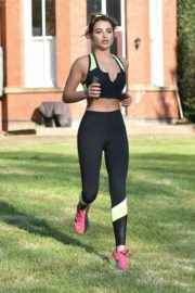 Georgia Harrison Workout at a Park in Chigwell 2020/06/13 7
