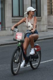 Georgia Steel and Elma Pazar in Daisy Dukes Out Riding Bikes in London 2020/05/31 4
