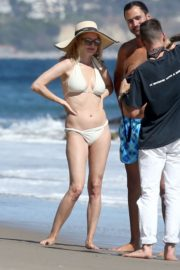 Heather Graham in White Bikini at a Beach in Malibu 2020/06/08 1