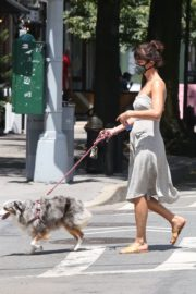 Helena Christensen Out with Her Dog in New York 2020/06/14 3