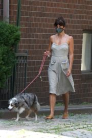 Helena Christensen Out with Her Dog in New York 2020/06/14 13