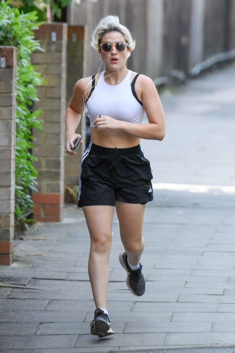India Mullen Out Jogging in London 2020/06/03 10