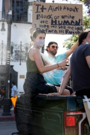 Ireland Baldwin at Black Lives Matter Protest in Los Angeles 2020/06/07 2