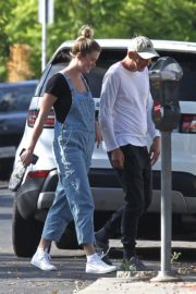 Ireland Baldwin in Denim Overalls Out in West Hollywood 2020/06/20 1