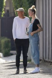 Ireland Baldwin in Denim Overalls Out in West Hollywood 2020/06/20 3