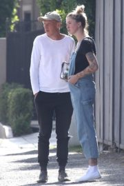 Ireland Baldwin in Denim Overalls Out in West Hollywood 2020/06/20 7